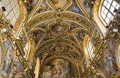 interiors of San Paolo Maggiore church, Naples Italy