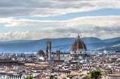 View of the Cathedral Santa Maria del Fiore in Florence, Italy