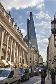 LONDON, UK - JUNE 30, 2014: Royal exchange building. Bank of England square and underground station