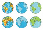 Earth illustration with different colors vector