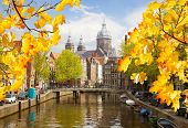 Church of St Nicholas, old town canal, Amsterdam