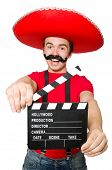 Funny mexican with movie board