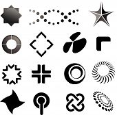 Symbols, brands and corporate marks poster