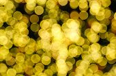 Defocused Abstract Yellow Christmas Background