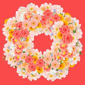 Flower Wreath Collage