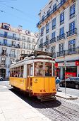 Lisbon,Portugal-May 11: Typical,Tramway on May 11, 2014. Beautiful Tramway in  Lisbon, Portugal, Eur