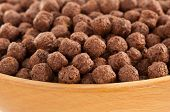 cereal chocolate balls as background texture
