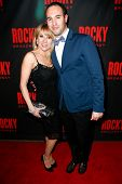 NEW YORK-MAR 13: Reality star Ramona Singer (L) and producer Adam Blanshay attend the 'Rocky' Broadw