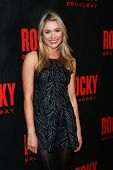 NEW YORK-MAR 13: Actress Katrina Bowden attends the 'Rocky' Broadway opening night after party at Ro