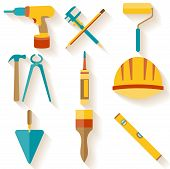 Flat design. Set of house repair icons