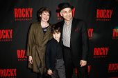 NEW YORK-MAR 13: Actor Ned Eisenberg (R) and family attend the 'Rocky' Broadway opening night after