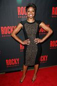 NEW YORK-MAR 13: Stage actress Montego Glover attends the 'Rocky' Broadway opening night after party