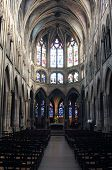 PARIS, FRANCE - NOV 11, 2012: Interior of Saint Severin church. The Church of St Severin is Catholic