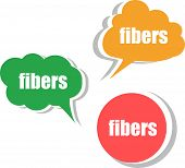 Fibers. Set Of Stickers, Labels, Tags. Template For Infographics