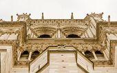 Notre Dame de Paris facade detail