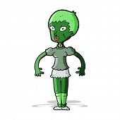 cartoon zombie monster woman