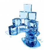 Stylized melting ice cubes