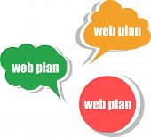Web Plan. Set Of Stickers, Labels, Tags. Template For Infographics