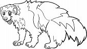 Wolverine Animal Cartoon Coloring Page