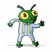 cartoon alien spaceman