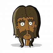 cartoon man with long mustache
