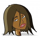 cartoon annoyed woman