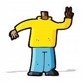 cartoon body giving peace sign  (mix and match cartoons or add own photos)