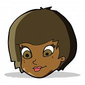 cartoon female face