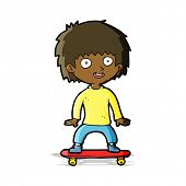 cartoon boy on skateboard