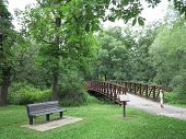 Iron Bridge Over Pine Marsh South at Chain O Lakes State Park in Illinois