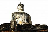 stock photo of budha  - Bhudda at Sukhotai Ruin Old City Country Thailand