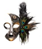 stock photo of masquerade mask  - Ornate carnival mask isolated on white background - JPG