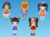 Cartoon Doll Girls Dress Up 1