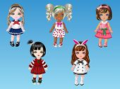 Cartoon Doll Girls Dress Up 2