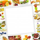 picture of recipe card  - Collection of healthy food photos with copy space - JPG