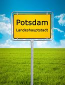 An image of the city sign of Potsdam