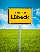 An image of the city sign of Luebeck