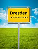 An image of the city sign of Dresden
