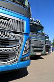 Row Of New Euro 6 Volvo FH16 Trucks, Detail