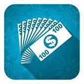 money flat icon, christmas button, cash symbol