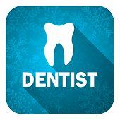 dentist flat icon, christmas button