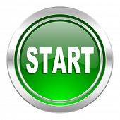 start icon, green button