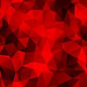 seamless dark red polygonal background