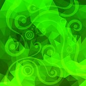 green floral polygonal background