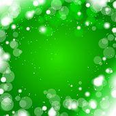 green winter snow background
