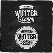 Winter Set Of Typographic Design