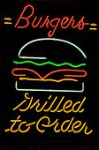 Burger Grilled To Order Neon Sign