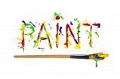 Colorful Paint Painted Word Paint