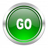 go icon, green button