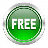 free icon, green button